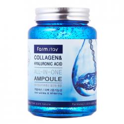 Многофункциональная сыворотка с коллагеном и гиалуроновой кислотой Farm stay Collagen & Hyaluronic Acid