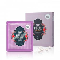 Гидрогелевая маска с маслом ши и жемчужной пудрой Petitfee Pearl & Shea Butter Mask
