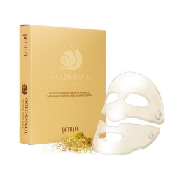 Гидрогелевая маска с золотом и улиточным муцином Petitfee Gold & Snail Mask Pack