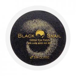 Гидрогелевые патчи с муцином черной улитки Black Snail Glitter Eye Patch