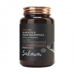 Ампульная сыворотка для лица FarmStay Salmon Oil and Peptide Vital Ampoule