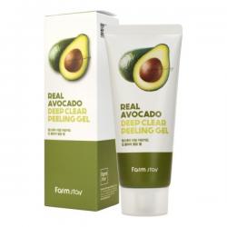 Пилинг-гель с экстрактом авокадо FarmStay Real Deep Clear Peeling Gel Avocado