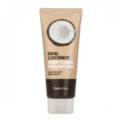 Пилинг-гель с экстрактом кокоса FarmStay Real Deep Clear Peeling Gel Coconut