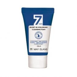 Пенка с гиалуроновой кислотой May Island 7 Days Secret 4D Hyaluronic Cleansing Foam Mini Size