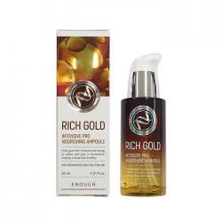 Сыворотка с маточным молочком и золотыми частицами ENOUGH Rich Gold Intensive Pro Nourishing Ampoule