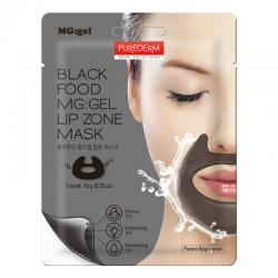 Гелевая маска для зоны вокруг губ Purederm Black Food MG:gel Lip Zone Mask